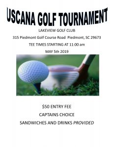 USCANA  NA Golf Tournament - rescheduled @ Lake View Country club