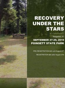 Columbia Area Sixth Annual Campout - RECOVERY UNDER THE STARS @ Poinsett State Park - Wedgefield, SC