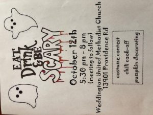 Eat, Drink & Be Scary @ Weddington United Methodist Church