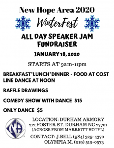 New Hope Area 2020 Winterfest  (All Day Speaker Jam Fundraiser) @ Durham Armory
