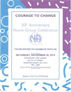 Courage To Change Group Celebration @ Centenary UMC Annex