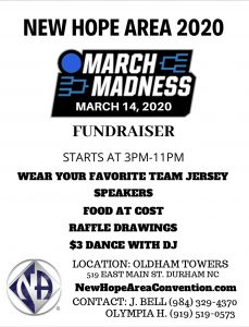 New Hope Area 2020 - March Madness Fundraiser @ Oldham Towers