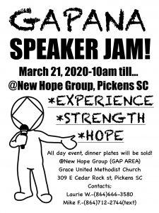 GAP AREA Speaker Jam @ Grace United Methodist