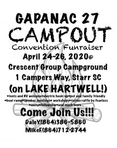 GAPANAC 27 - Campout @ Crescent Group Campground