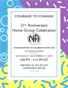 Courage To  Change Home Group Celebration @ Zoom Platform