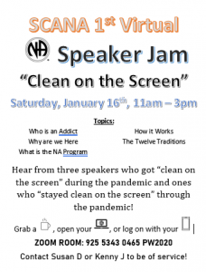 SCANA 1st Virtual Speaker Jam @ ZOOM
