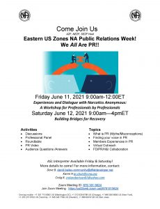 Eastern US Zones - NA Public Relations Week Virtual Event! @ Zoom Meeting Hosted by SEZF and Eastern US Zones